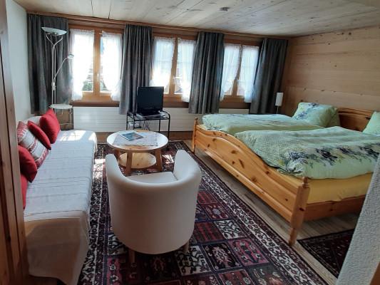 Chalet-Hotel Alpenblick Wildstrubel Double room south Frieda/Bruno 1