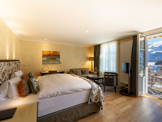 Lenkerhof gourmet spa resort Double room South with balcony 0