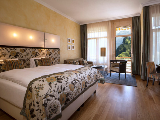 Lenkerhof gourmet spa resort Double room South with balcony 1