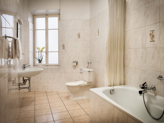 EasyRooms dell'Angelo Chambre Double - Salle de Bains commune 2