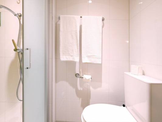 Barabas Hotel Luzern Quadruple room with external private shower 2