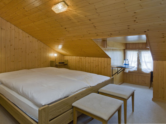 Hotel Nest- und Bietschhorn Attic room with sharded shower 0