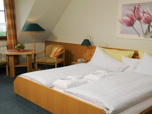 Waldhotel Kreuztanne GmbH Double room with balcony 1
